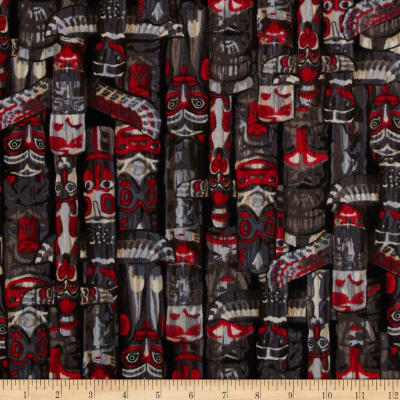 Kanvas Totem Flannel Totem Pole Black/Red
