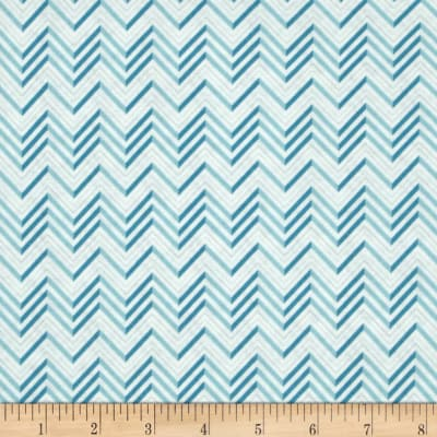 Lovebirds Chevron Blue