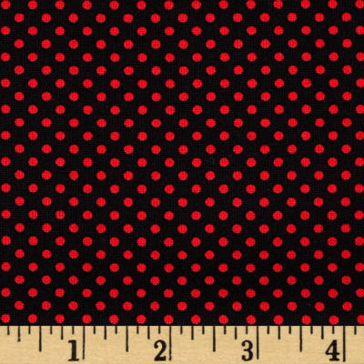 Kanvas Cherries Jubilee On the Dot Black/Red