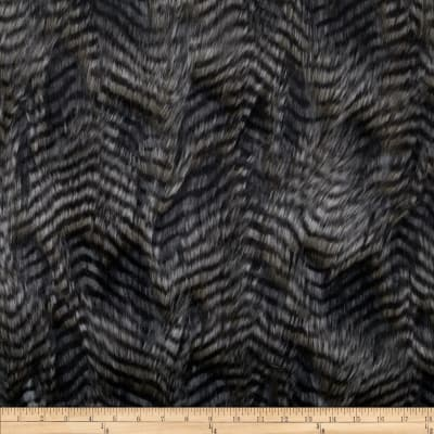 Faux Fur Fancy Feather Silver