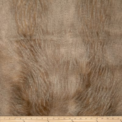 Faux Fur Golden Feather Ivory/Gold