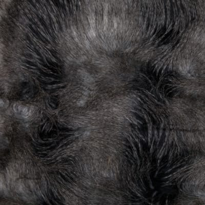 Faux Fur Silver Feather Grey/Black