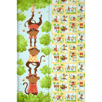 Oolie Growth Chart Panel White/Green/Yellow
