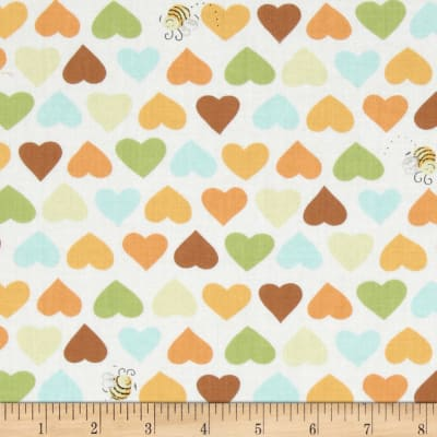 Oolie Hearts & Bees White/Multi