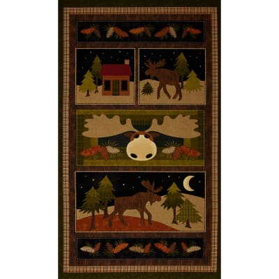 Moose on the Loose 24 In. Panel Multi