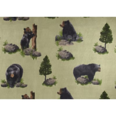 Fleece Print Black Bear Sage