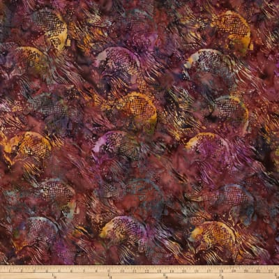 Island Batik Dancing in the Moonlight Fuchsia/Gold Fish