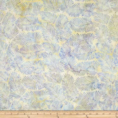 Island Batik Cloud Light Blue/Tan Needle Leaves