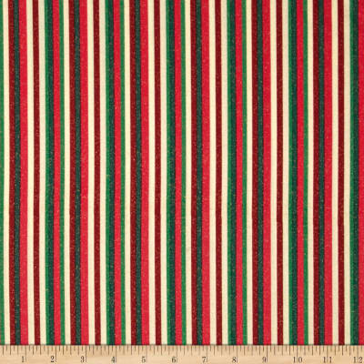 Christmas Morning Metallic Stripe Red/Green/Cream