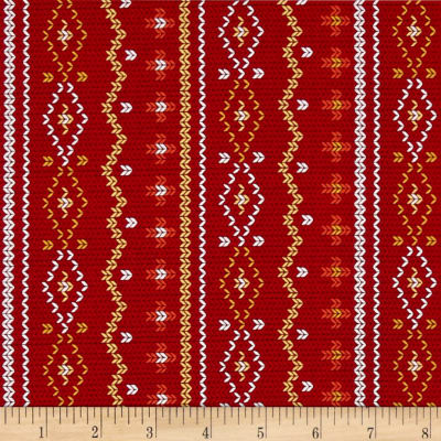 Rusty and Friends Woodland Sweater Red