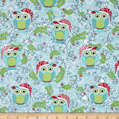 Frosty Forest Forest Owl Aqua/Multi