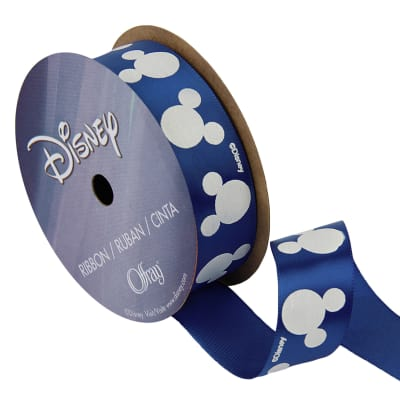 "7/8"" Mickey Mouse Ribbon Puff Silouhette Multi"