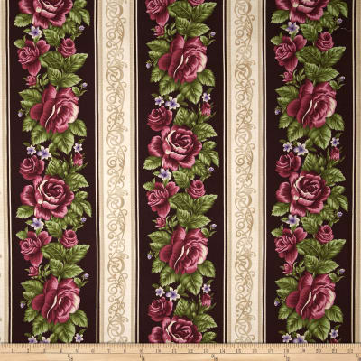 Harlow Rose Border Stripe Mahogany
