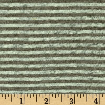 Designer Yarn Dyed Stripe Jersey Knit Grey/Brown