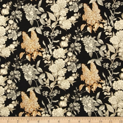 Sew Vintage Etched Flower Garden Black