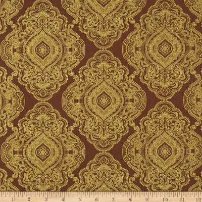 Metallic Lace Medallion Metallic Lace Nutmeg/Gold