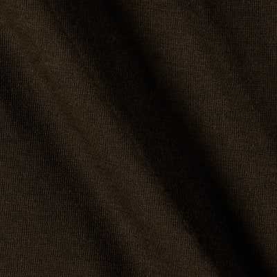 Cotton Poly Jersey Knit Dark Brown