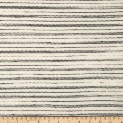 3 x 1 Rib Knit Stripes Grey/White
