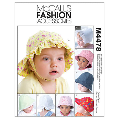 McCall's Infants' Hat Pattern M4478 Size OSZ