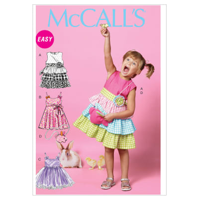 McCall's Children's/Girls' Dresses, Belt and Bag Pattern M6496 Size CDD