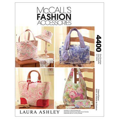 McCall's Handbags, Tote Bags, Hat and Accessories Pattern M4400 Size OSZ