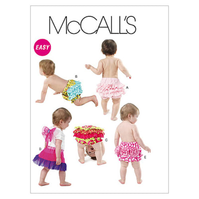 McCall's Infants' Diaper Covers and Wings Pattern M6345 Size OSZ
