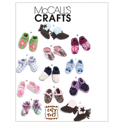 McCall's Infants' Booties Pattern M6342 Size OSZ