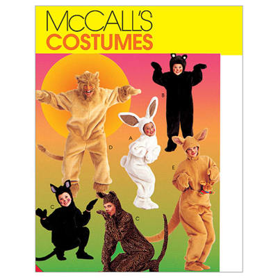 McCall's Adults'/Kids' Animal Costumes Pattern M6106 Size CE0
