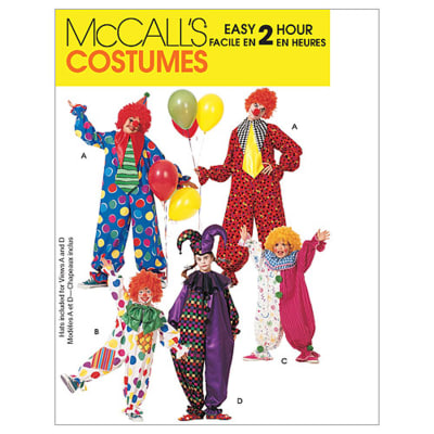 McCall's Children's/Boys'/Girls'/Misses'/Men's/Teen Boys' Clown Costumes Pattern M6142 Size LRG