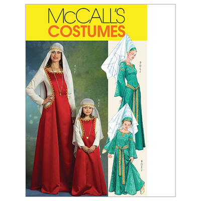 McCall's Misses'/Children's/ Girls' Medieval Costumes Pattern M5499 Size KID