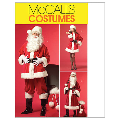 McCall's Misses'/Men's Santa Costumes and Bag Pattern M5550 Size XM0