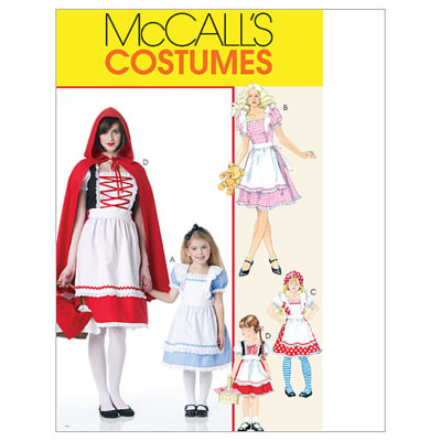 McCall's Misses'/Children's/Girls' Storybook Costumes Pattern M6187 Size KID