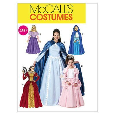 McCall's Misses'/Children's/Girls' Costumes Pattern M6420 Size KID
