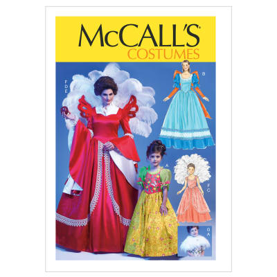 McCall's Misses'/Children's/Girls' Costumes Pattern M6629 Size KID