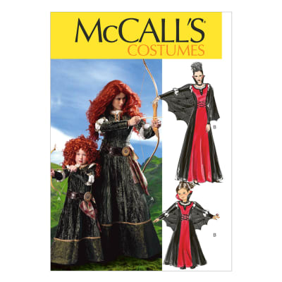 McCall's Misses'/Children's/Girls' Costumes Pattern M6817 Size KID