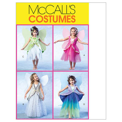 McCall's Children's/Girls' Fairy Costumes Pattern M4887 Size CDD