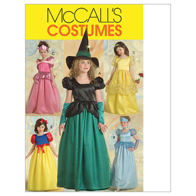 McCall's Children's/Girls' Princess and Witch Costumes Pattern M5494 Size CCE