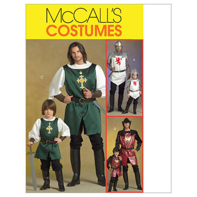 McCall's Men's/Children's/ Boys' Knight, Prince and Samurai Costumes Pattern M5500 Size KID