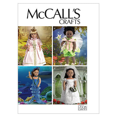 """McCall's 18"""" (46cm) Doll Costumes Pattern M6452 Size OSZ"""