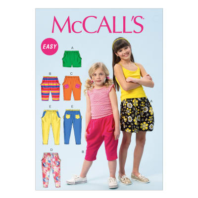 McCall's Children's/Girls' Shorts and Pants Pattern M6950 Size CCE
