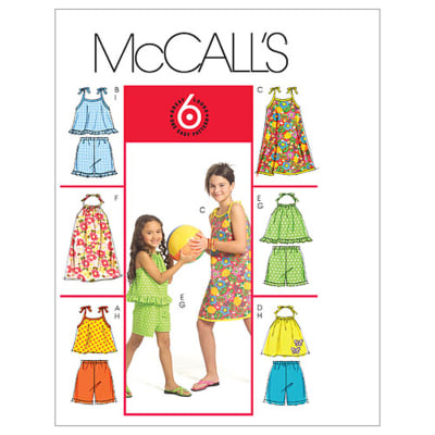 McCall's Children's'/Girls' Tops, Dresses and Shorts Pattern M5419 Size CCE