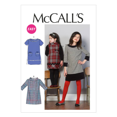 McCall's Children's/Girls' Dresses Pattern M6786 Size CCE