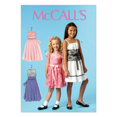 McCall's Toddlers' Dresses and Tie Ends Pattern M6880 Size CCE