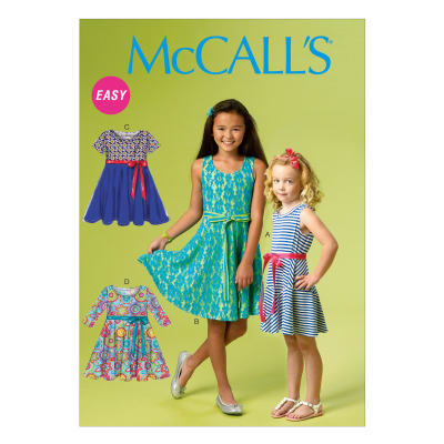 McCall's Girls'/Girls' Plus Dresses and Hat Pattern M6915 Size CCE