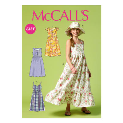 McCall's Girls'/Girls' Plus Dresses and Hat M6919 Size GRL
