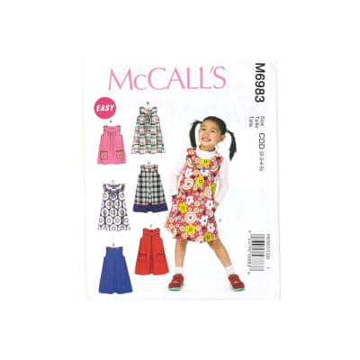McCall's Children's/Girls' Dresses/Jumpers Pattern M6983 Size CDD