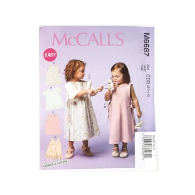 McCall's Girls/Girls' Dresses and Pinafores Pattern M6687 Size CDD