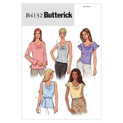 Butterick Misses'/Misses' Petite Top and Belt Pattern B4132 Size 080
