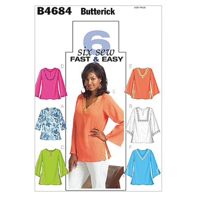Butterick Misses'/Misses' Petite Top and Tunic Pattern B4684 Size 0Y0