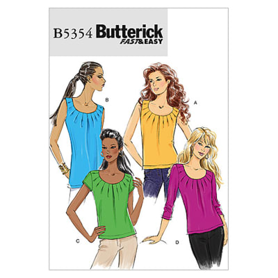 Butterick Misses' Top Pattern B5354 Size AA0